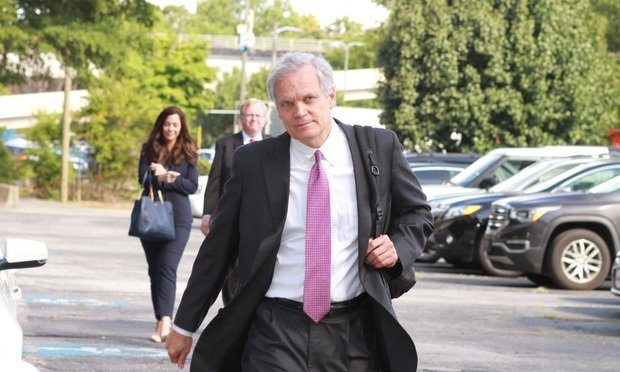 Kenneth Canfield of Doffermyre Shields Canfield & Knowles, Atlanta, enters the Richard B. Russel Federal Courthouse in Atlanta on Monday July 22, 2019. Canfield along with Amy Keller and Norman Siegel are the consumer plaintiffs lead counsel in the consumer class action case against Equifax as a result of the company's massive data breach.