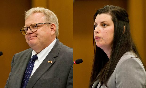 Thomas Bishop, Pataula Circuit District Attorneys Office and Christina Cribbs, Georgia Public Defender Council. (Photos:: John Disney/ALM)