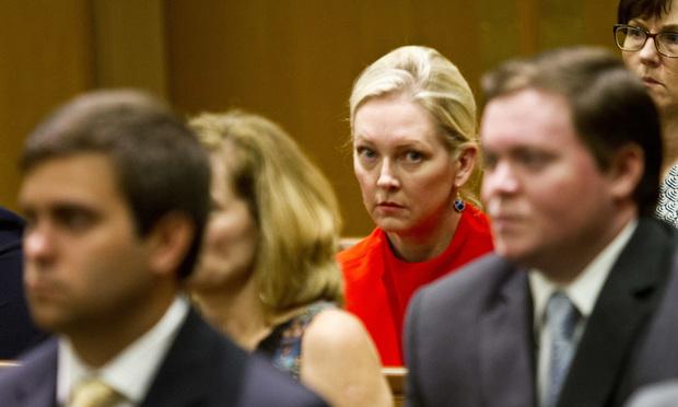 Danielle Rollins sitting in court
