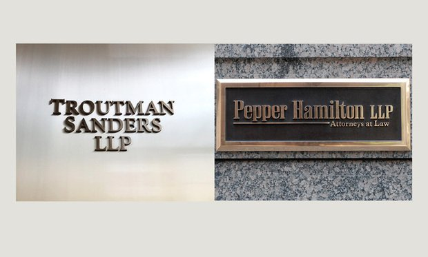 Troutman Sanders and Pepper Hamilton. (Photos: ALM/courtesy photo)