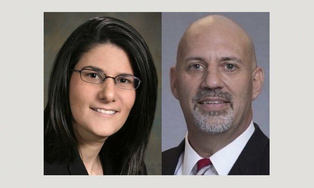 Gina M. Vitiello (left), shareholder in the Atlanta office of Chamberlain Hrdlicka, and Patrick Kennedy, director of eDiscovery at Andrews Myers. (Courtesy photos)