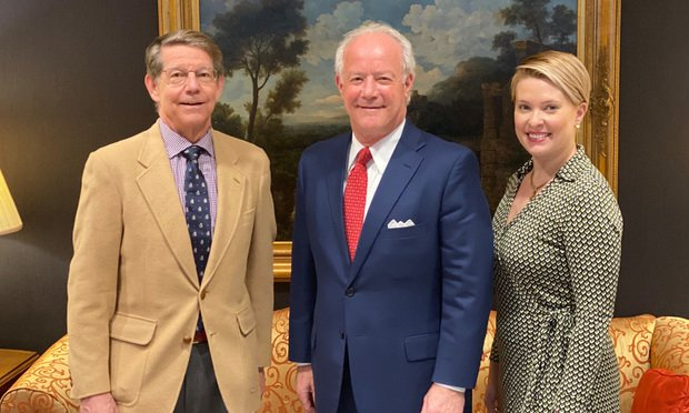 Tony Cochran (from left), Tom Bever and Emily Ward, who will join Smith, Gambrell & Russell on Jan. 6. (Not pictured: Sarah Gordon) (Courtesy photo)