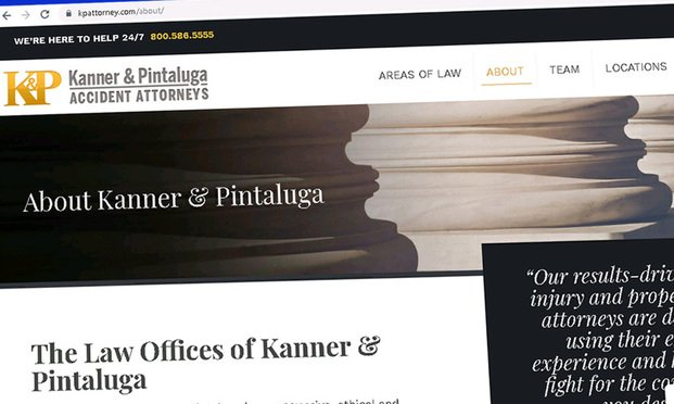 Screenshot of Kanner & Pintaluga's website.