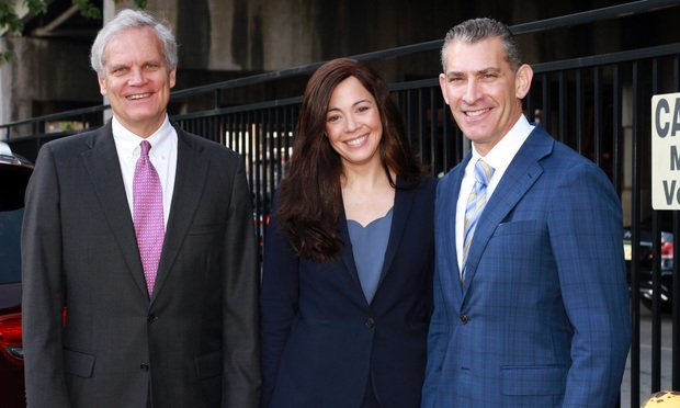 Kenneth Canfield (from left), Amy Keller and Norman Siegel lead counsel for the consumer plaintiffs in the Equifax consumer class action lawsuit brought against Equifax for their data breach. (Photo: John Disney/ALM)