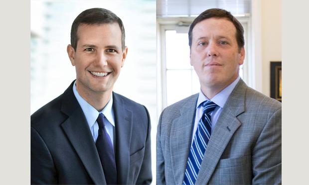 David Mackenzie (left) and Daniel J. Huff of Huff Powell & Bailey. (Courtesy photos)