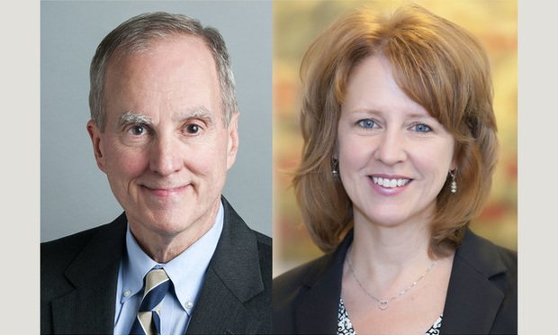 Roger Quillen, of Fisher Phillips (left) and Susan Hiser, of The Murray Law Group. (Courtesy photo)