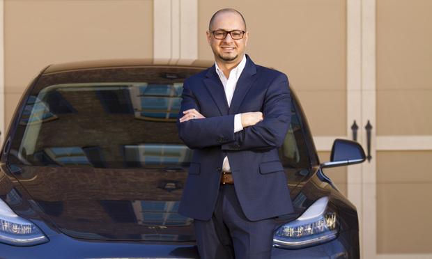 Yusuf Mohamed, deputy general counsel, Tesla. (Photo: John Disney/ALM)