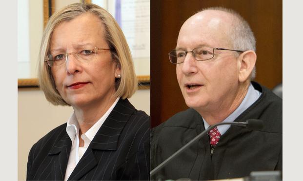 Cobb County Superior Court Judges S. Lark Ingram (left) and Stephen Schuster. (Photos: John Disney/ALM)