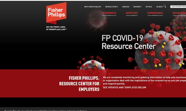 Fisher Phillips Covid 19 website. (Courtesy photo)