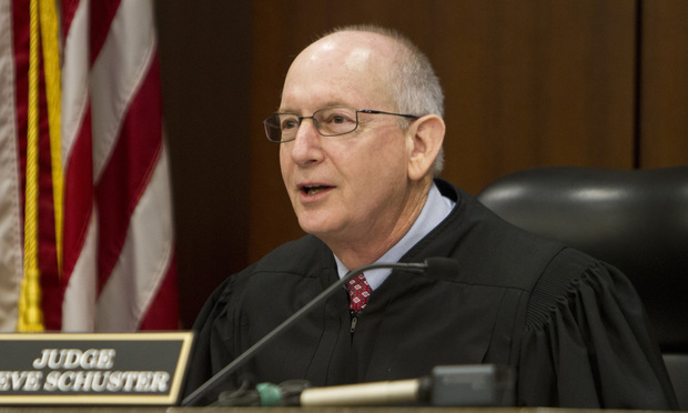 Cobb County Superior Court Judge Steve Schuster. (Photo: John Disney/ALM)