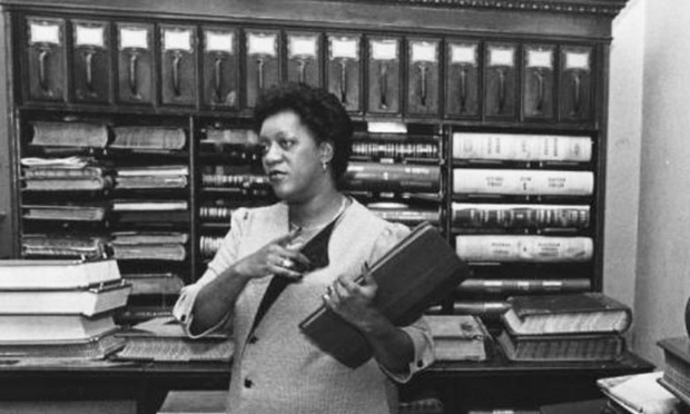 Former Hancock County Probate Judge Edith Jacqueline Ingram Grant in 1969.