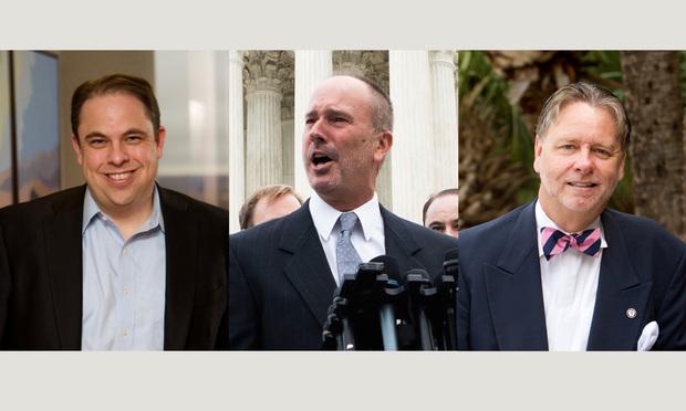 "Thomas ""Tom"" J. Mew, Gerald Bostock, and Judge Steven C. Teske."