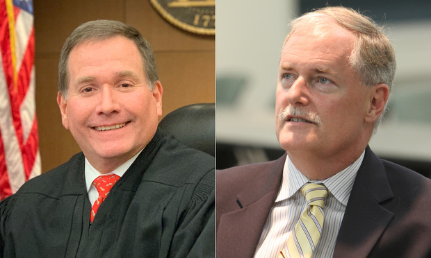 Judges Chris Brasher (left) and Ben Studdard. (Photos: Courtesy and John Disney/ALM)