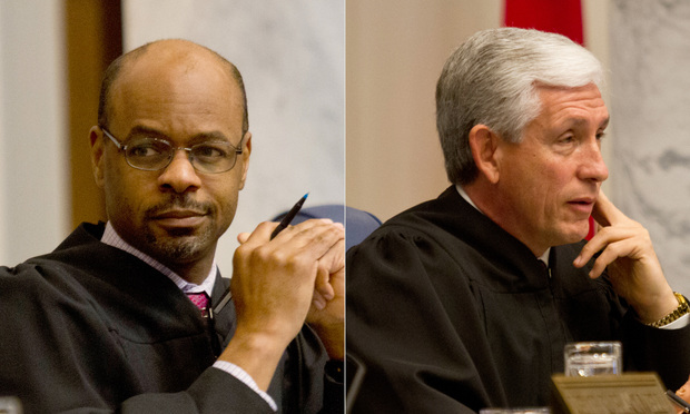 Chief Justice Harold Melton and Presiding Justice David Nahmias.