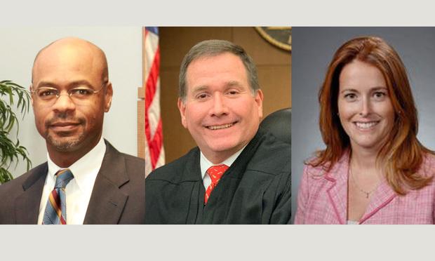 Justice Harold Melton, Judge Christopher Brasher, and Judge Kelli Wolk