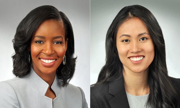 Crystal McElrath (left) and Nichole Novosel of Swift, Currie, McGhee & Hiers. (Courtesy photos)