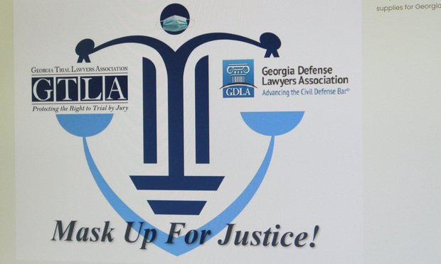 Mask Up for Justice screen image.