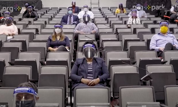 "A court's video, ""Justice Requires Jurors,"" shows what jury selection and trials look like with COVID-19 precautions. (Courtesy photo)"