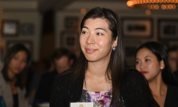 Alina Lee is at the Georgia Asian Pacific American Bar Association's 2016 annual in-house counsel dinner at Ecco in Atlanta on October 6, 2016. Photo: Rebecca/ALM