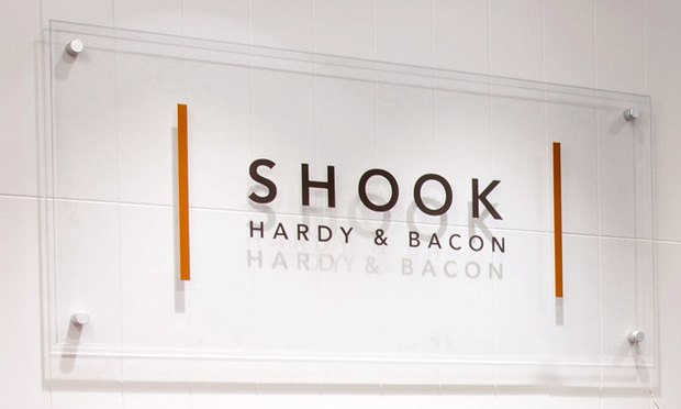 Shook Hardy sign