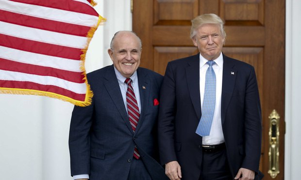 Former New York Mayor Giuliani Joining Trump Legal Team