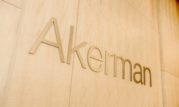 Akerman Hit With Malpractice Claims Over Work for Corporate Raider's