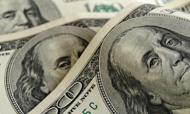 Stock image $100 bills