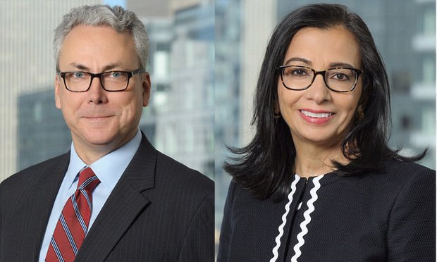 Pictured, from left, are Todd Krause and Bindu Donovan, partners with Desmarais.