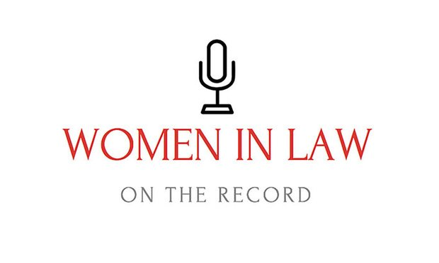 Women in Law Podcast logo