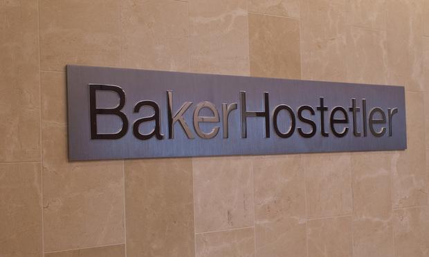 Baker & Hostetler office sign/photo by John Disney/ALM