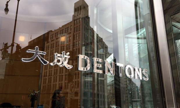 Dentons office sign