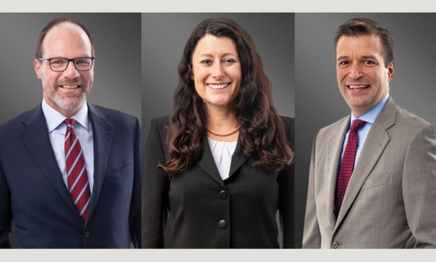 L-R: Stephen Baird, Tiffany Blofield and Craig Krummen, shareholders with Greenberg Traurig.