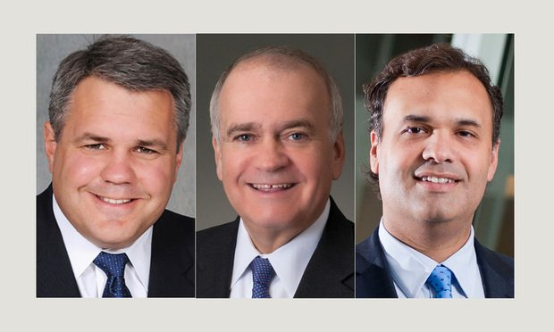 Left to right, Mark Flip, Richard Cullen and William Burch. Courtesy photos