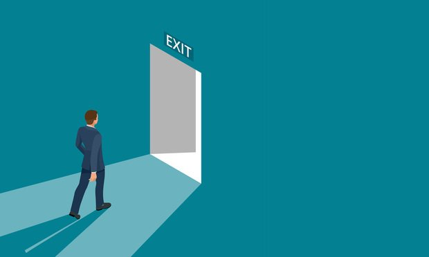 Illustration: Businessman Exiting Room