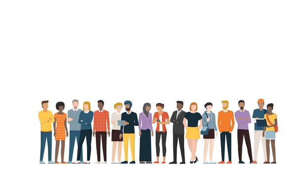 multiethnic group illustration