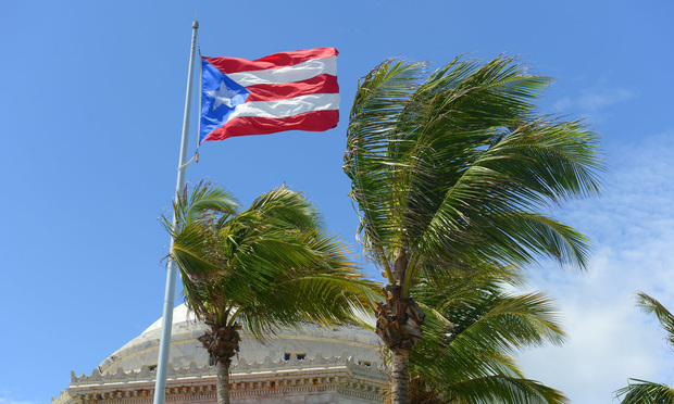 Puerto Rican flag flying