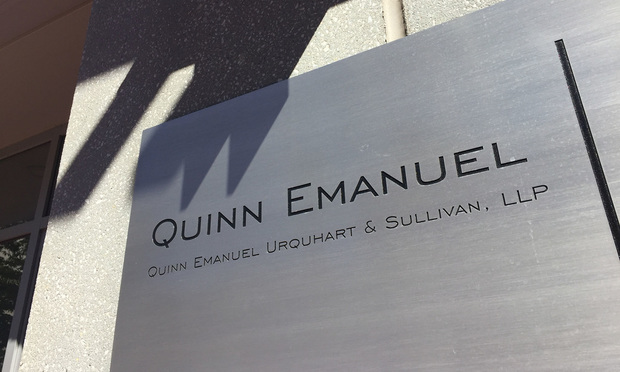 Quinn Emanuel office sign