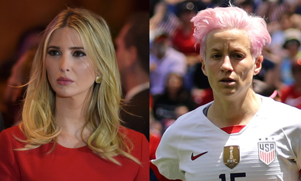 Ivanka Trump and Megan Rapinoe.