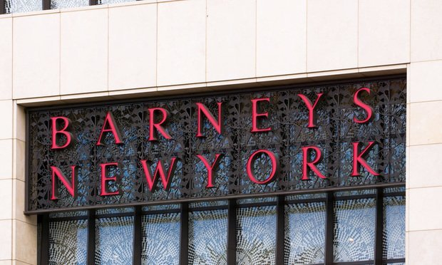 LAS VEGAS, NV/USA - FEBRUARY 14, 2016: Barneys New York exterior sign and logo. Barneys New York is an American chain of luxury department stores headquartered in New York.