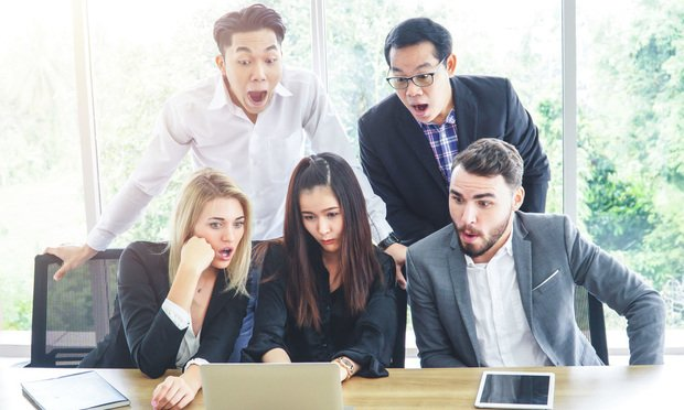 Businesspeople Shocked