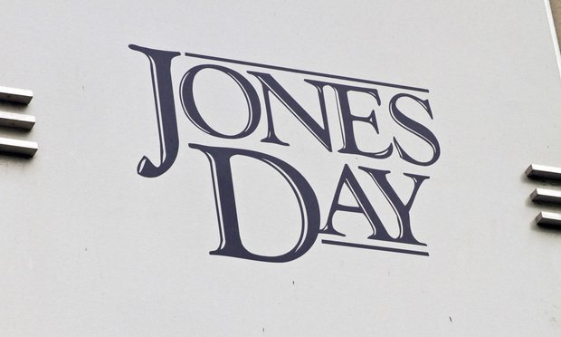 Jones Day sign. Photo: John Disney/ALM