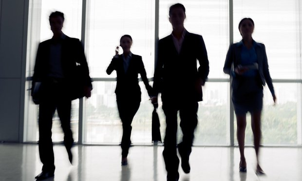Stock image people walking in a rush