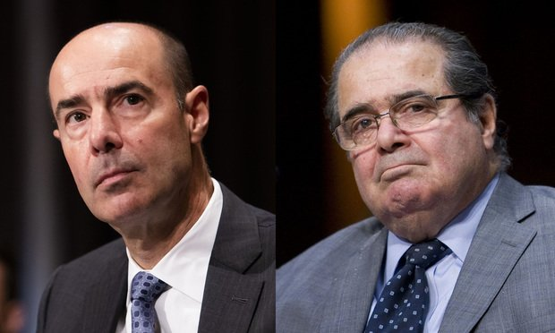 Eugene Scalia and Antonin Scalia