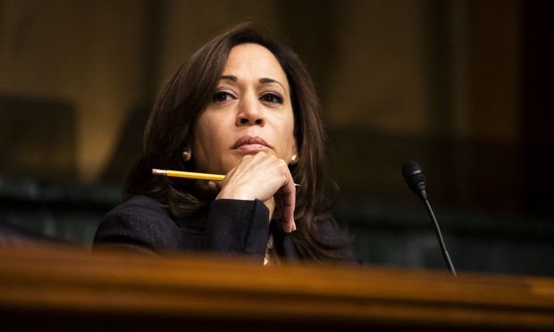 Senator Kamala Harris (D-CA) listens to testimony during a Senate Judiciary Committee nominations hearing, on Wednesday, May 22, 2019.