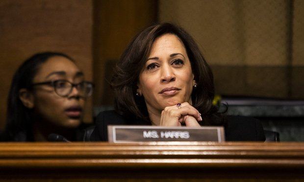 Sen. Kamala Harris (D-CA) during a Senate Judiciary Committee hearing, on Tuesday, February 5, 2019.