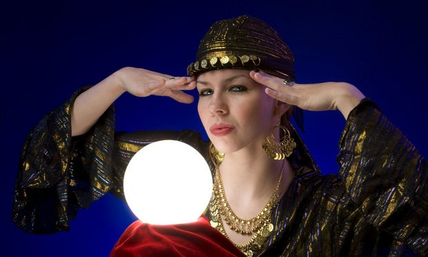 Fortune teller with crystal ball.