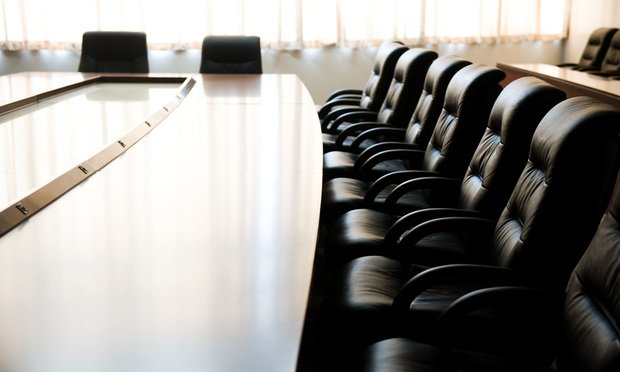 stock photo empty boardroom