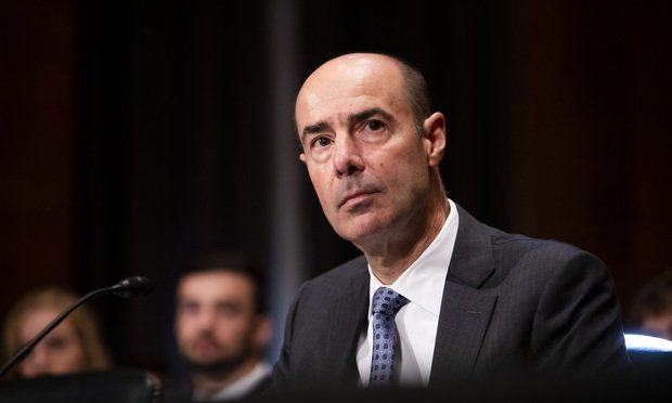 Eugene Scalia testifies before the Senate Health, Education, Labor, and Pensions Committee during his confirmation hearing to become Secretary of the U.S. Labor Department, on Thursday, September 19, 2019 / Photo: Diego M. Radzinschi/ALM