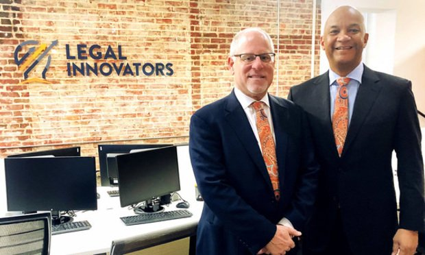 Jonathan Greenblatt, chairman, left, and Bryan Parker, CEO, right, of Legal Innovators (Courtesy photo)