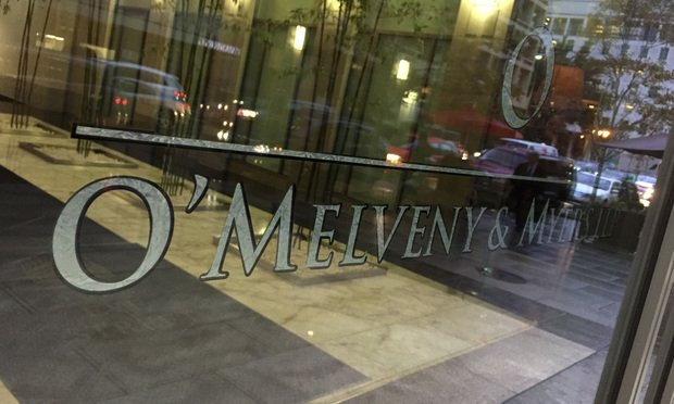 O'Melveny & Myers Washington, D.C. offices. October 21, 2014. Photo by Diego M. Radzinschi/THE NATIONAL LAW JOURNAL.